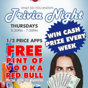Bobbers Island Grill Thursday Trivia Night