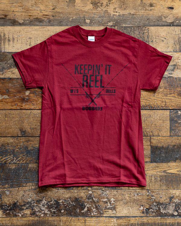 Bobbers Island Grill Keepin It Reel T Shirt Wisconsin Dells