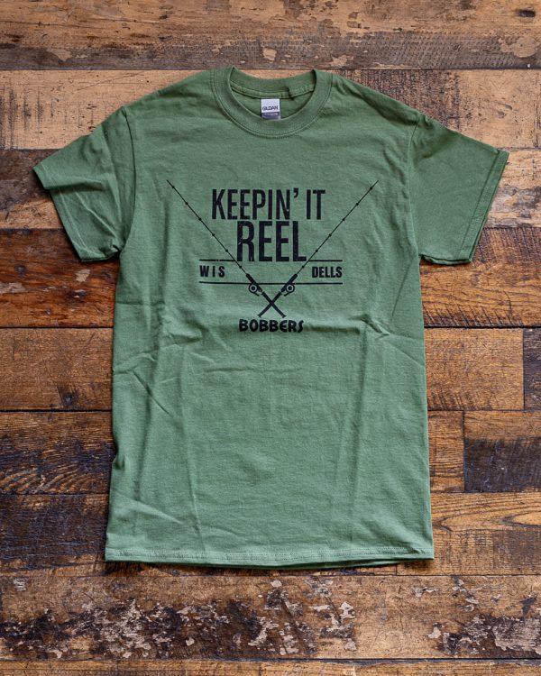 Bobbers Island Grill T-Shirt Keepin It Reel Wisconsin Dells