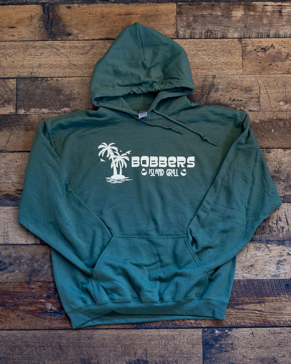 Bobbers Island Grill Hoodie Olive Wisconsin Dells