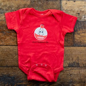 Bobbers Baby Onesie Red