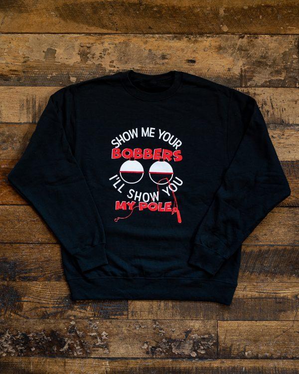 Bobbers Show Me Crew Neck Sweater Black