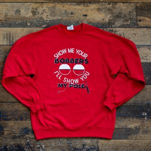 Show Me Bobbers Crew Sweater Red