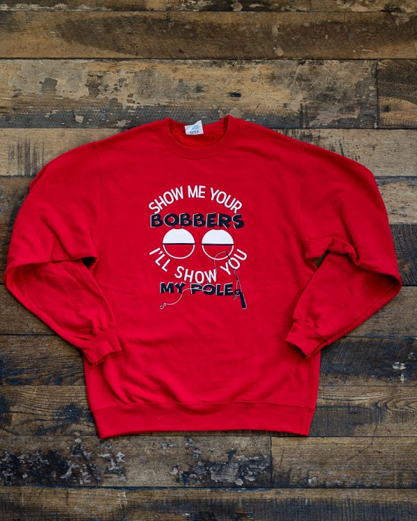 Bobbers Show Me Crew Sweater Red