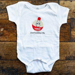 Bobbers Baby Onesie White