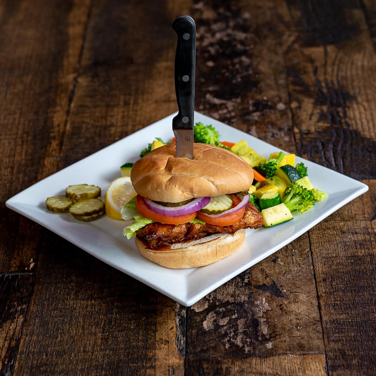 Bobbers Island Grill Jerk Whitefish Gourmet Sandwich