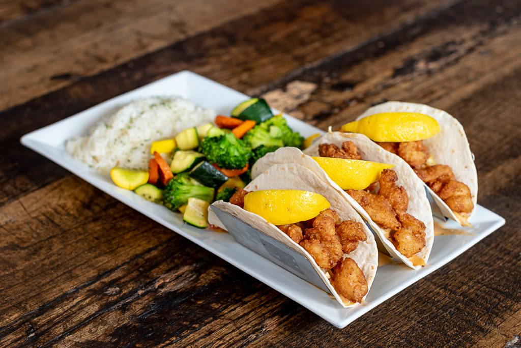 Bobbers Island Grill Island Tacos Entree With Shrimp