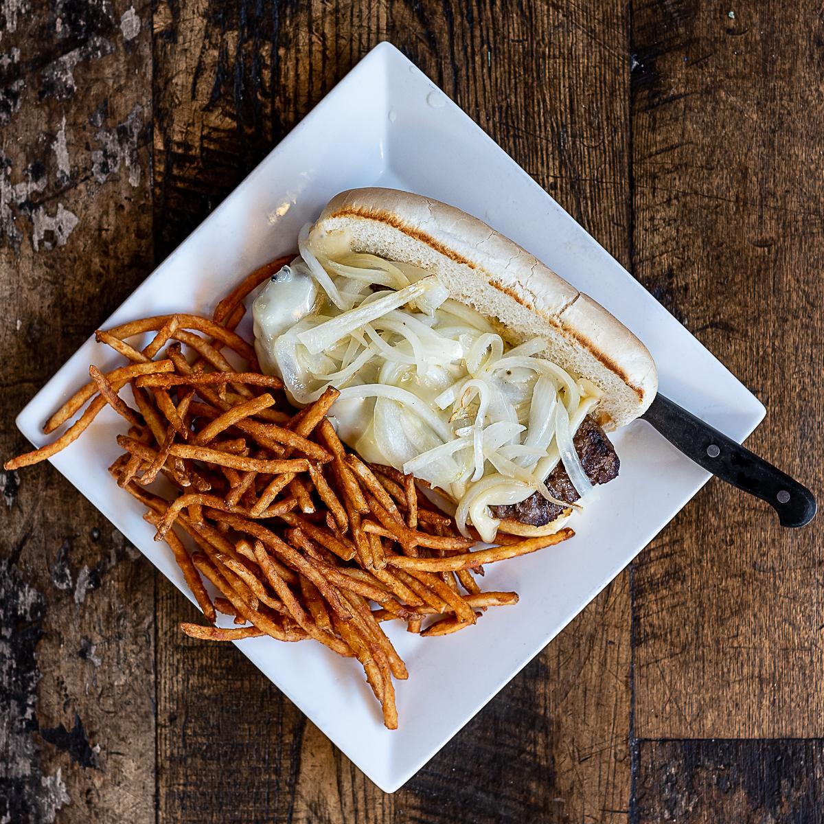 Bobbers Island Grill Steak Sandwich With Jammin Fries